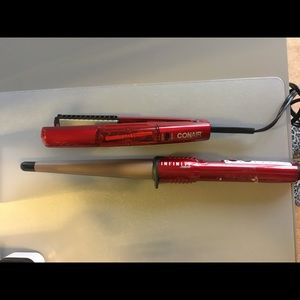 Other - ConAir Infiniti Curling Wand and Mini Straightener